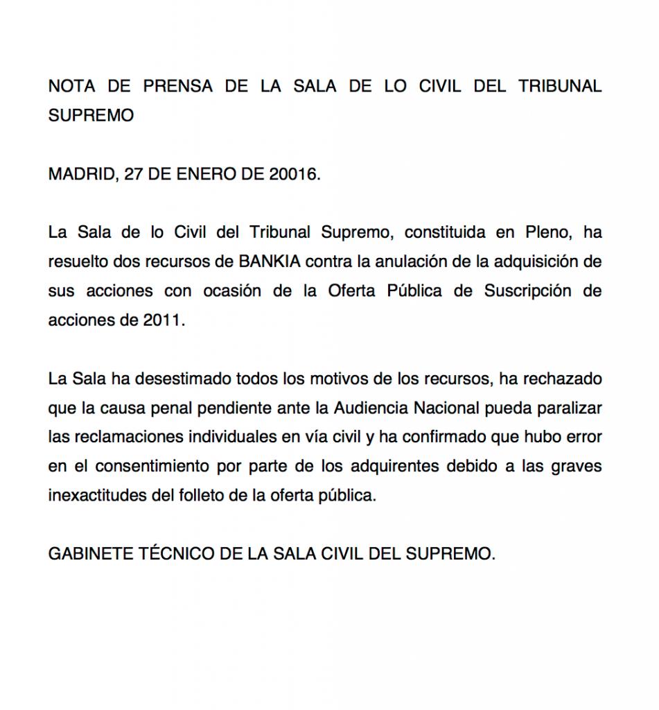Salida a bolsa de Bankia